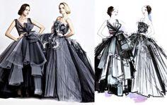 Croquis de Marcas e Estilistas Famosos A magia da ilustração de Moda