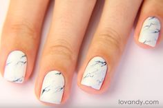 your white marble nails