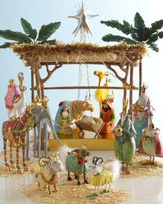 My dream Nativity set! Nativity Set by Patience Brewster by judith Christmas Nativity Set, First Christmas, Winter Christmas, Christmas Holidays, Christmas Crafts, Christmas Decorations, Christmas Ornaments, Snowman Crafts, Christmas Bells