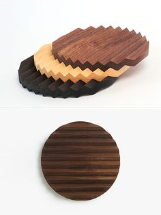 Zig Zag is a versatile wooden trivet that can be used as a serving platter desktop organizer or a tray for small objects. Design by Pat Kim. Small Wood Projects, Cnc Projects, Woodworking Projects Plans, Simple Projects, Cnc Wood, Wooden Flooring, Diy Cutting Board, Wood Cutting, Desktop Organization