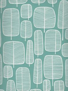 Little Trees – turkos tapet med vita inslag Duck Egg Blue, Pretty Patterns, Living Room Inspiration, Repeating Patterns, Background Patterns, Blue Backgrounds, Decoration, Printed Cotton, Home Furnishings