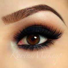 Black Smokey eyeshadow #dark #bold #eye #makeup #eyes