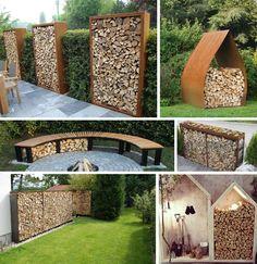Garden Paths, Garden Bridge, Outdoor Spaces, Outdoor Living, Garden Inspiration, Exterior Design, Firewood, Pond, Pergola