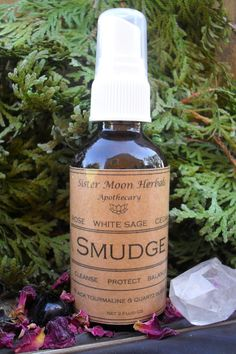 Smudge Spray White Sage Cedar Rose Sacred by SisterMoonHerbals White Sage Smudge, Sage Essential Oil, Amber Bottles, Smudging, Cleanse, Herbalism, Alcohol, Healing, Rose