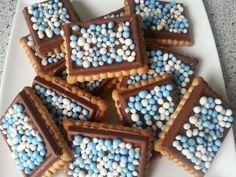 Chocolade koekjes met muisjes