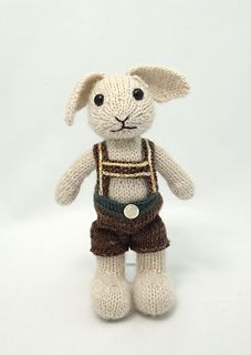 Knit your own Hopsy the Bunny from the Fuzzy House game!