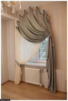 Curtains For Arched Windows, Home Curtains, Window Blinds, Curtains Living Rooms, Bedroom Window Curtains, Arch Windows, Round Windows, Bamboo Curtains, Swag Curtains