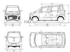 Mazda AZ-Wagon blueprint