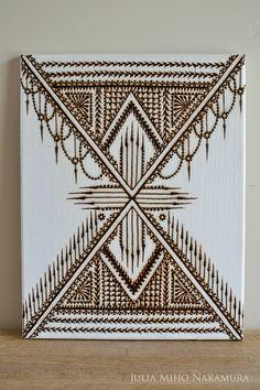 Henna on canvas ~ www.naturalhennaart.com