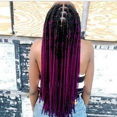 purple box braids | afro hairstyle | hair inspiration | ombre