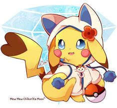Tanabata Matsuri 2018 by ChikoritaMoon on DeviantArt Pikachu Raichu, Pikachu Art, Pokemon Eeveelutions, O Pokemon, Cute Pikachu, Pokemon Fan Art, Pokemon Stuff, Cute Pokemon Wallpaper, Cute Cartoon Wallpapers