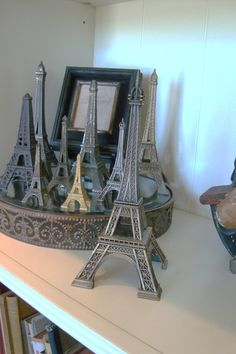 Vintage Eiffel Tower Statue from Paris France by edithandevelyn