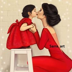 My World, My Life, My Everything, She's My Daughter! Mother Daughter Art, Mother Art, Mother And Child, Best Friend Drawings, Girly Drawings, Sarra Art, Girly M, Baby Boy Pictures, Art Pictures