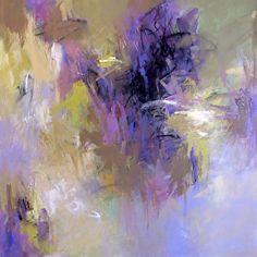 Debora Stewart – Lavender Garden, Painting, Acrylic on Canvas - Metarnews Sites Violet Garden, Lavender Garden, Paintings I Love, Original Paintings, Flower Paintings, Small Paintings, Beautiful Paintings, Abstract Landscape, Abstract Art