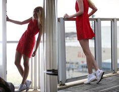 Sheinside  Dress, Converse Shoes