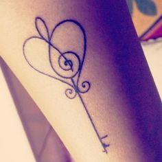 Finally got my tattoo! <3 # music love