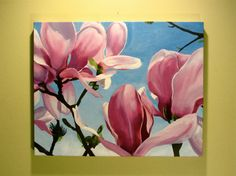 Japanese Magnolia (original painting) by Sian Hardie Japanese Magnolia, Art Ideas, Original Paintings, Unique Jewelry, Handmade Gifts, Pretty, Artwork, Stuff To Buy, Vintage