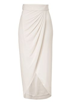 Ecru Abbey Wrap Skirt by RACHEL ZOE