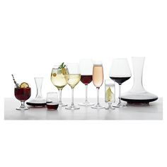 Shop Grand Vin Captains Decanter.  Dramatic bottle shape swoops to a broad base in a style known as a captain's carafe.