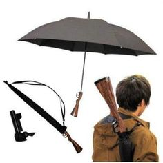 Rifle Style Umbrella - http://1uptreasures.com