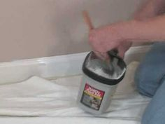 how to tape down carpet to repaint baseboards