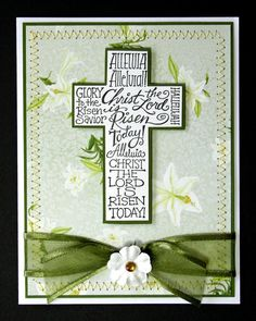 Easter Blessings from the one who rose frome the grave Easter Cards Religious, Christian Cards, Christian Easter, Easter Cross, Creative Cards, Greeting Cards Handmade, Communion, Homemade Cards, Invitation Cards