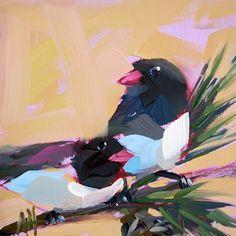 Two Junco Birds original bird oil painting by by prattcreekart