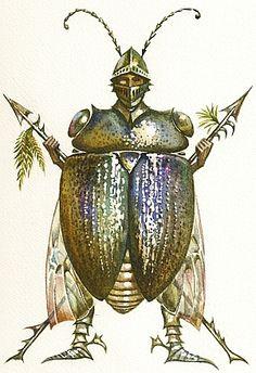Knight of the Shiny Shield by Vladimir Kush
