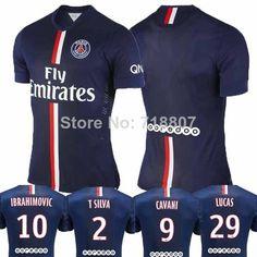 A+++ Thai Quality Paris Saint Germain 14/15 shirt IBRAHIMOVIC/CAVANI/ T.SILVA/