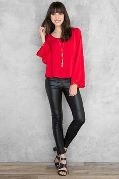Fulton Solid Blouse $38.00