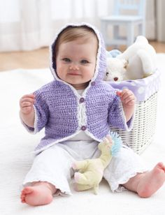 Crochet Hoodie Jacket | Yarn | Free Knitting Patterns | Crochet Patterns | Yarnspirations