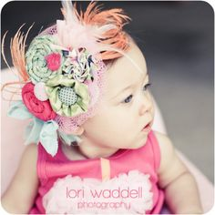 Super adorable headband! - just need some way to bribe Arabella to keep it on her head (actually showing her herself in the mirror seems to be working to keep stuff on her head for at least a few hours)