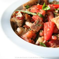 panzanella italian bread salad, Good way to use those extra tomatoes from the garden :)