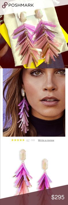 Kendra Scott Justyne Blush Earrings Wow! These are stunning and not heavy at all  Check out my other items! Kendra Scott Jewelry Earrings