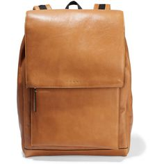 Marni Leather backpack (57.645 RUB) ❤ liked on Polyvore featuring bags, backpacks, light brown, leather drawstring bag, real leather backpack, leather daypack, leather rucksack and leather backpack