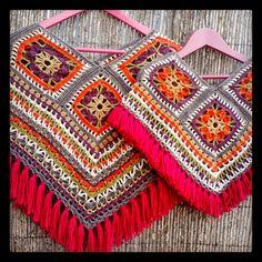 Crochet Poncho, Crochet Granny, Crochet Tops, Crochet Projects, Sewing Projects, Crochet Ideas, Hippie Crochet, Crochet Clothes, Hippy