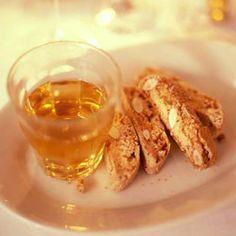 dessert + digestivo: almond biscotti and vin santo #saveur #dinnerparty