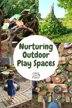 Don't miss these outdoor play areas for kids! Perfect for a daycare or at home. These are ideas for kids of all ages, from toddlers to preschool and older kids, too! Outdoor Play Spaces, Kids Learning Activities, Nature Crafts, Big Kids, Kids Playing, Preschool, Children, Toddlers, Fun