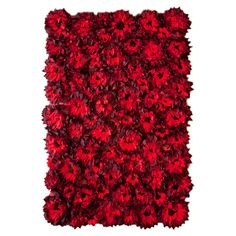 Flowerbed Rug &708.95 | This rug is so wonderful! I want to fall asleep in it like Dorothy in the poppies!