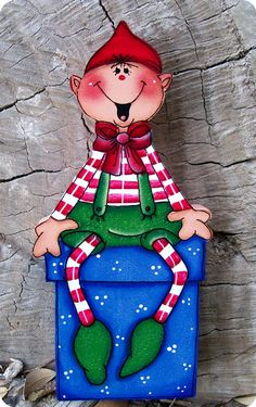 Adorable Elf Shelf Sitter 12 by CountryCharmers Christmas Yard Art, Christmas Yard Decorations, Christmas Wood, Outdoor Christmas, Christmas Pictures, Christmas Projects, Holiday Crafts, Christmas Ornaments, Christmas Snowman