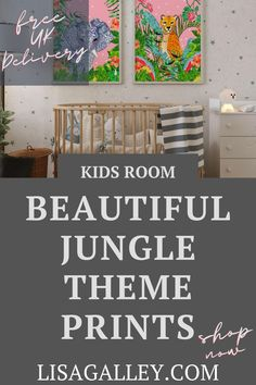 HOW TO IMPRESS YOUR KIDS WITH JUNGLE THEME PRINTS.  When you've always wanted a jungle theme baby room look no further, we have the perfect bright and modern prints  for your nursery.  Find out how to display your wall art and bring a new neutral look to your baby girl or boy's room, with our new art perfect for your gender neutral room.  #lisagalleyillustrations #nursery #bedroom Jungle Theme Nursery, Nursery Themes, Nursery Wall Art, Rainbow Print, Modern Wall Decor, Modern Prints, New Baby Gifts, Gender Neutral, Home Decor Inspiration