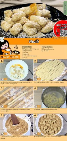 Schupfnudeln recipe with video - quick dishes / simple recipes - Would you like Schupfnudeln? The Schupfnudeln recipe video is easy to find with the help of the QR - Clean Eating Menu, Clean Eating Recipes, Cooking Recipes, Easy Dinner Recipes, Sweet Recipes, Easy Meals, Dessert Recipes, Dessert Dishes, Simple Recipes
