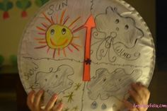 Learning about the weather with a #rainbowsong. The weather #Bloghop with many great ideas kids-weather.