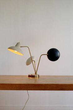 Lovely  MODERNIST TABLE LAMP Bauhaus Mid Century Modern Arredoluce Stilnovo Eames