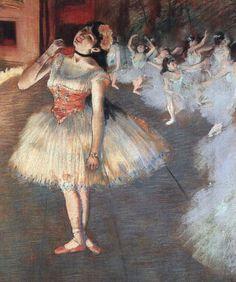 The Star - Edgar Degas ; my interpretation, http://librarianforlifestyle.wordpress.com/2014/09/22/floral-coral/