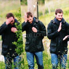 Behind the scenes on the set of #TheFall. Jamie Dornan as Paul Spector.