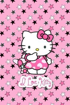 Hello Kitty — I Love Kitty<br> Sanrio Hello Kitty, Hello Kitty Clipart, Hello Kitty Art, Hello Kitty Coloring, Hello Kitty Themes, Walpaper Hello Kitty, Hello Kitty Iphone Wallpaper, Hello Kitty Backgrounds, Pink Wallpaper Girly