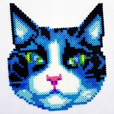 Cat perler fuse beads by catsandstaches
