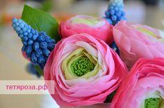 Холодный фарфор, керамическая флористика, творческие занятия, мастер класс роза, мастер-класс  ранункулюс, Владивосток