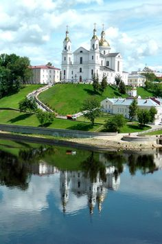 Russian Orthodox church in the Old Town area of Vitebsk, Belarus